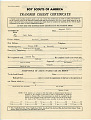 View Boy Scout Transfer Certificate, Poston digital asset number 0