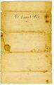 View Samuel Hopkins Patent License, Vermont, 1790 digital asset number 3