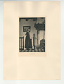 View Photographs from Life in Old Dutch Costume digital asset: Portfolio; photogravure, The Candlestick