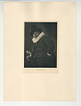 View Photographs from Life in Old Dutch Costume digital asset: Portfolio; photogravure, The Man with the Scroll