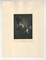 View Photographs from Life in Old Dutch Costume digital asset: Portfolio; photogravure, The Man with the Glass