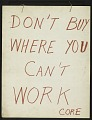 View Don't Buy Where You Can't Work - CORE digital asset number 1