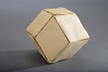 View Geometric Model by A. Harry Wheeler, Rhombic Dodecahedron Transformable into a Trapezohedron, Dissected Polyhedron digital asset: Geometric Model, Dissected Rhombic Dodecahedron