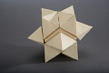 View Geometric Model by A. Harry Wheeler, Rhombic Dodecahedron Transformable into a Trapezohedron, Dissected Polyhedron digital asset: Geometric Model, Trapezohedron with Cube