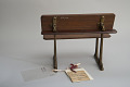 View William Blackburn's 1872 School Desk and Seat Patent Model digital asset: Original tag.