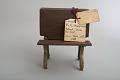 View William A. Slaymaker's 1870 School Desk and Seat Patent Model digital asset: Original tag.