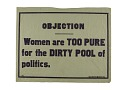 "View Woman Suffrage ""Objection"" Banner digital asset number 0"