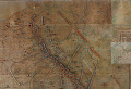 View Chaumont GHQ Battle Map digital asset: Battle map used by General Pershing at Chaumont Headquarters in France during WWI, detail view