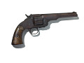 View Smith & Wesson Schofield Revolver digital asset: Smith and Wesson Schofield revolver, found loaded at Little Big Horn battlefield in 1883