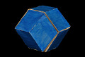 View Geometric Model by A. Harry Wheeler, Rhombic Dodecahedron Transformable into Rhombic Dodecahedron, Dissected Polyhedron digital asset: Geometric Model, Dissected Polyhedron - Rhombic Dodecahedron Transformed into Itself (blue side out)