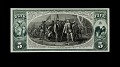 View 5 Dollars, Proof, National Bank Note, United States, 1875 digital asset number 0