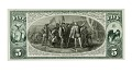 View 5 Dollars, Proof, National Bank Note, United States, 1875 digital asset number 1