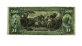 View 500 Dollars, National Bank Note, United States, ca 1865 digital asset number 2