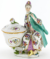 View Meissen figure of a woman in Turkish dress from a plat de ménage digital asset number 0