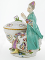 View Meissen figure of a woman in Turkish dress from a plat de ménage digital asset number 3
