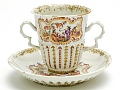 View Meissen chocolate cup and saucer (part of a service: Hausmaler) digital asset number 1