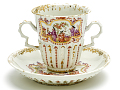 View Meissen chocolate cup and saucer (part of a service: Hausmaler) digital asset number 2