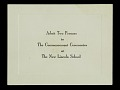 View Minnijean Brown-Trickey New Lincoln School Commencement Program, Invitation, and Ticket 1959 digital asset number 1