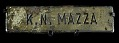 View 9/11 Port Authority Police Name Tag digital asset: Name tag worn by Port Authority Captain Kathy N. Mazza during rescue operations at the World Trade Center on September 11, 2001