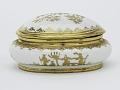 View Meissen Böttger porcelain sugar box (Hausmaler) digital asset number 0