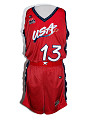 View USA basketball jersey worn by Rebecca Lobo during the 1996 Olympic games digital asset number 0