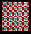 "View 1940 - 1960 Mandy Ary's ""Maple Leaf"" Pieced Quilt digital asset: Quilt, Maple Leaf, Front"