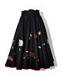 View Black Felt Circle Skirt with Appliques digital asset number 0