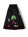 View Black Felt Circle Skirt with Appliques digital asset number 2