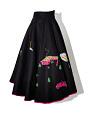 View Black Felt Circle Skirt with Appliques digital asset number 3