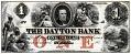 View 1 Dollar, Dayton Bank, Minnesota, United States, 1853 digital asset number 0