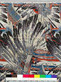"""View """"Sioux War Bonnet"""" discharge-printing process sample, Mallinson's American Indian series digital asset number 1"""
