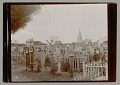 View Cemetery Showing Wood Grave Markers with Prayer Boxes n.d digital asset number 1