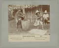 View Mexican Man with Wood Mortar and Pestle and Boy with Bowl and Sifter, Demonstrating Decortication of Coffee n.d digital asset number 0