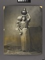 View Portrait of Woman Wearing Traditional Headdress and Carrying Pot on Head 1876 digital asset number 3