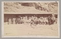 View Peruvian? Men and Llamas (for Carrying Ore) by Buildings With Bags Piled Beside It n.d digital asset number 1