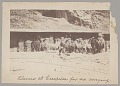 View Peruvian? Men and Llamas (for Carrying Ore) by Buildings With Bags Piled Beside It n.d digital asset number 0