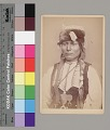 View Portrait of Young Man with Wrapped Braids, Ornaments, Hairpipe Breastplate, and Fur Hat 1867-73 digital asset number 1