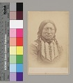 View Portrait of Chief Tene-Angpote (Kicking Bird) with Face Paint, and Wearing Military Jacket, Hairpipe Breastplate, and Hairpipe Earrings 1870 digital asset number 1
