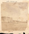 View View of Adobe Structures and Horse-Drawn Carriage n.d digital asset number 0