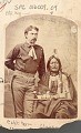 View Portrait of Lieutenant William P Clarke in Military Uniform And with Chief Little Wolf in Partial Native Dress and with Peace ? Medal and Pipe digital asset: Portrait of Lieutenant William P Clarke in Military Uniform And with Chief Little Wolf in Partial Native Dress and with Peace ? Medal and Pipe