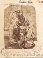 View Chief, Lean Wolf ?, Wearing Buckskin Leggings and Shirt Decorated with Quill Work and Ermine, Outside Earth Lodge ? 1866 digital asset number 0