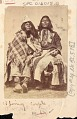 View Portrait of Paiute Jim and his Wife in Partial Native Dress 1867 digital asset number 0