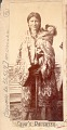 View Portrait of Woman in Partial Native Dress and Carrying Infant digital asset: Portrait of Woman in Partial Native Dress and Carrying Infant