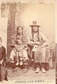 View Portrait of Crooked Face in Partial Native Dress, With Fur-Wrapped Braids and Pipe Tomahawk and with his Wife and Son in Native Dress digital asset: Portrait of Crooked Face in Partial Native Dress, With Fur-Wrapped Braids and Pipe Tomahawk and with his Wife and Son in Native Dress