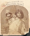 View Portrait of Woman Carrying Infant in Blanket on Back digital asset: Portrait of Woman Carrying Infant in Blanket on Back