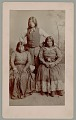 View Portrait of Man and Two Women Wearing Ornaments (One with Nose Cut Off for Adultery) n.d digital asset number 1