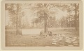 View View of Camp Showing Non-Native Men with Tent, Cooking Equipment, Tools, and Papers 1883 digital asset number 0