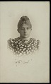 View Portrait (Front) of Signe Rink, Eskimo ethnologist and widow of Dr H. Rink, ex-Governor of Greenland, 1902 digital asset number 1