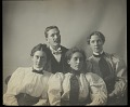 View Portrait of man and three women, Bureau of American Ethnology library personnel, 1897 digital asset number 3