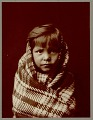 "View Portrait of young girl wearing blanket, possibly called ""Child"" Copyright 03 NOV 1904 digital asset number 3"